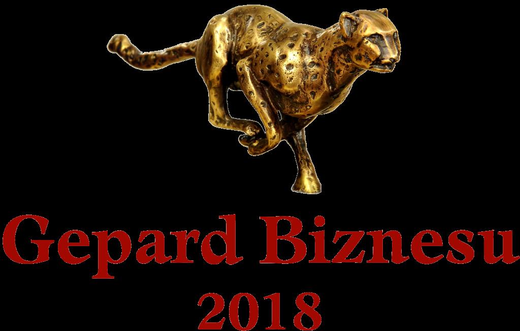 Logo Promocyjne Gepard Biznesu 2018 ze statuetką